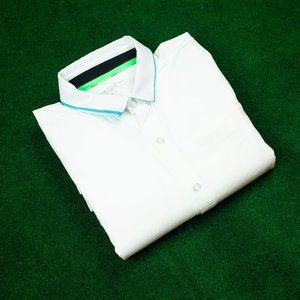 Nike Golf DRI FIT White Button Up Shirt